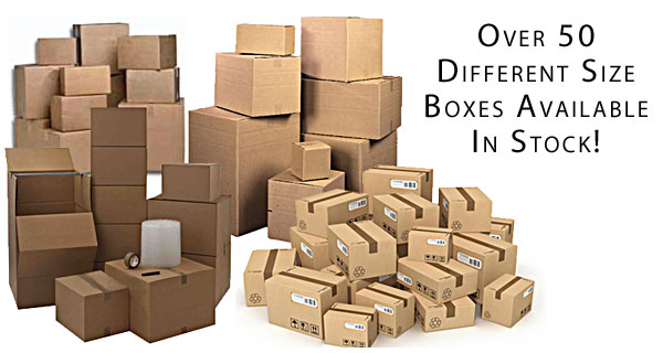 Over 50 Different Size Boxes in Stock